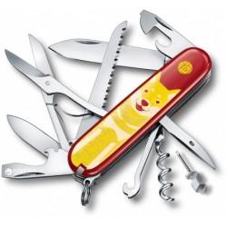 """Нож Victorinox Swiss Army Huntsman красный в подарочной упаковке """"Год собаки 2018"""""""