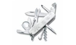 """Нож Victorinox Swiss Army Explorer, белый, в подарочной упаковке """"Зима"""""""