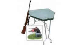 Стол стрелковый MTM Predator Shooting Table. Материал – пластик/алюминий. Цвет – зеленый.