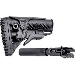 Приклад FAB Defense для AK 47/74 телескопический с регулируемой щекой. Цвет - черный