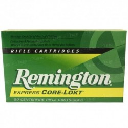 Патрон Remington кал.243 Win куля Core-Lokt Pointed Point Soft маса 6,48 грам/ 100 гран. Поч. швидкість 902 м/с.