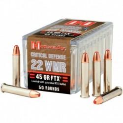Патрон Hornady Critical Defense кал. 22 WMR куля FTX маса 2,9 м (45 гран)